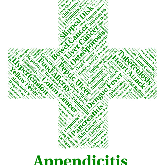 """Appendicitis Illness Represents Poor Health And Ailment"" stock image"