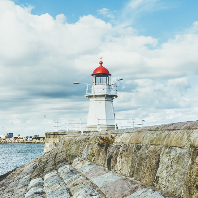 """""""Lighthouse peer in Malmo, Sweden"""" stock image"""