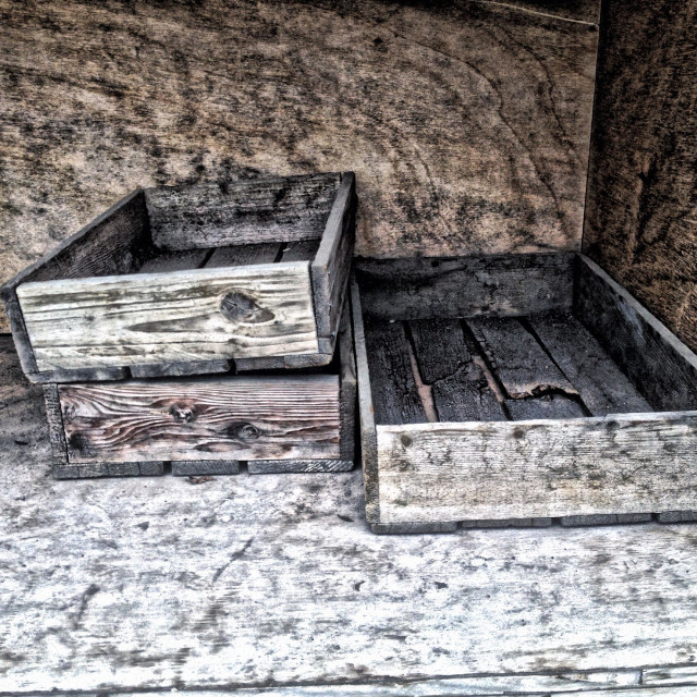 """Wood boxes"" stock image"