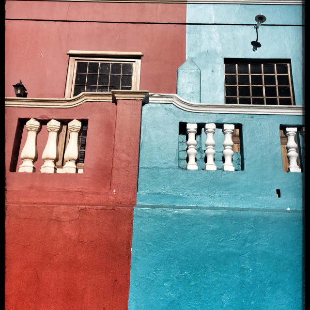 """""""Colourful houses in the Bo-Kaap, the Malay quarter of Cape Town, South Africa."""" stock image"""