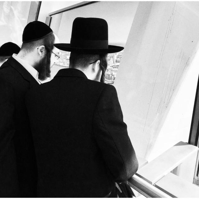 """Hasidic Orthodox Jews,London,England"" stock image"