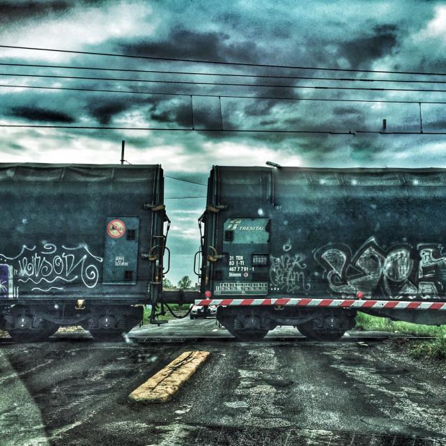 """Cargo crossing"" stock image"