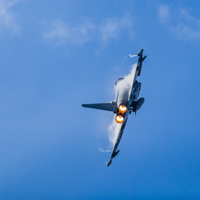 """Typhoon enters the display line in style"" stock image"