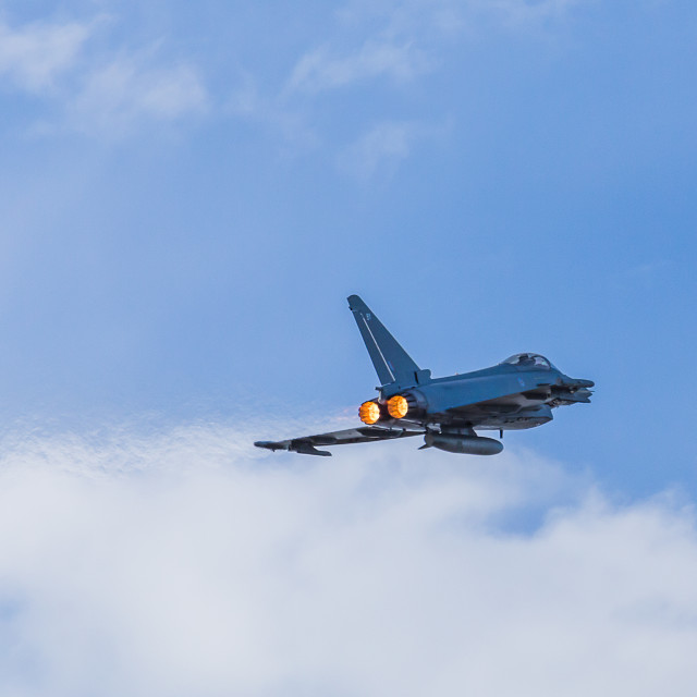 """Typhoon climbing with reheat"" stock image"