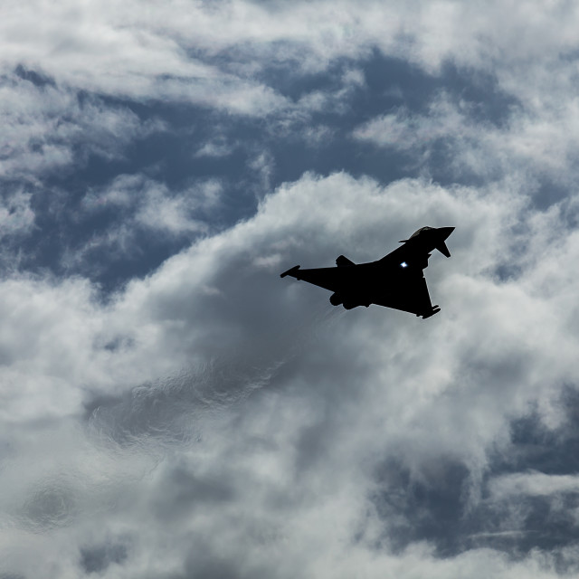 """Silhouette of the Typhoon"" stock image"