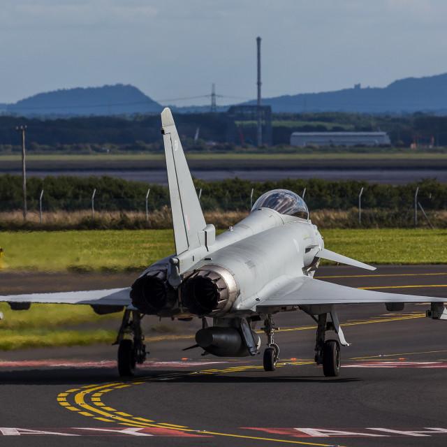 """Typhoon taxiing out"" stock image"
