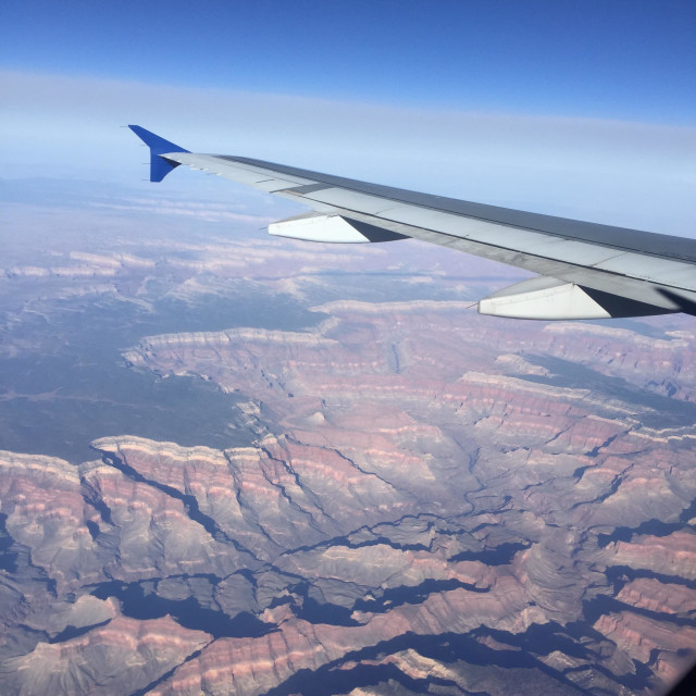 """""""Flying over the Grand Canyon"""" stock image"""