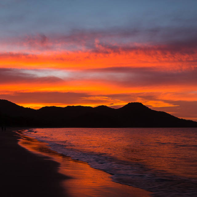 """The sun goes down on Guanacaste"" stock image"