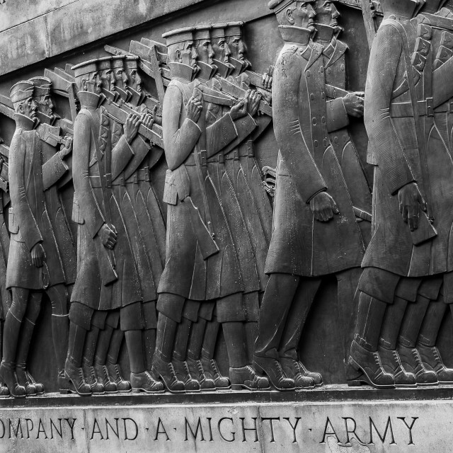 """A great company & a mighty army"" stock image"