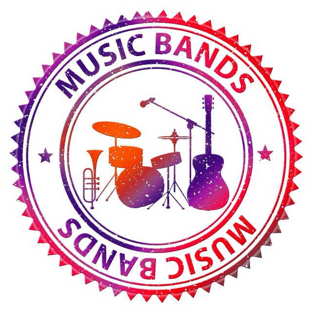 """""""Music Bands Shows Musical Track And Audio"""" stock image"""