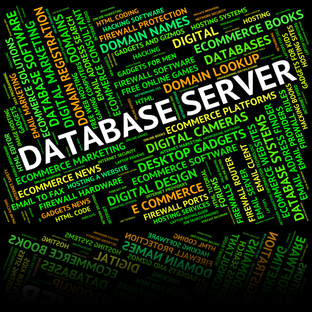 """""""Database Server Means Serving Servers And Computer"""" stock image"""
