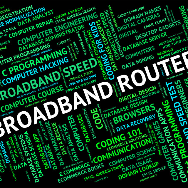 """Broadband Router Shows World Wide Web And Communication"" stock image"