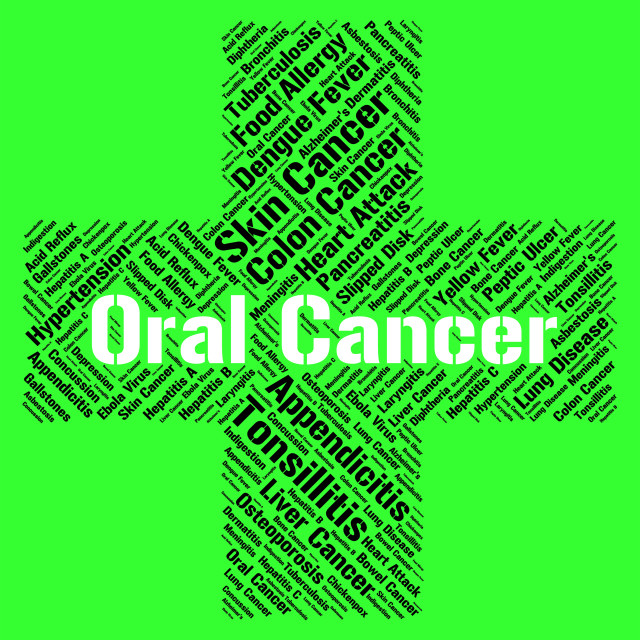"""Oral Cancer Indicates Ill Health And Attack"" stock image"