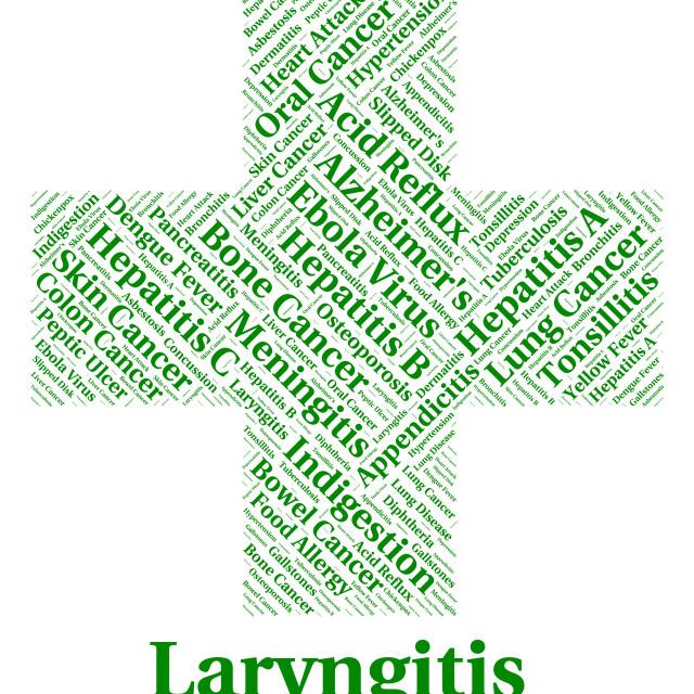 """Laryngitis Illness Indicates Poor Health And Affliction"" stock image"