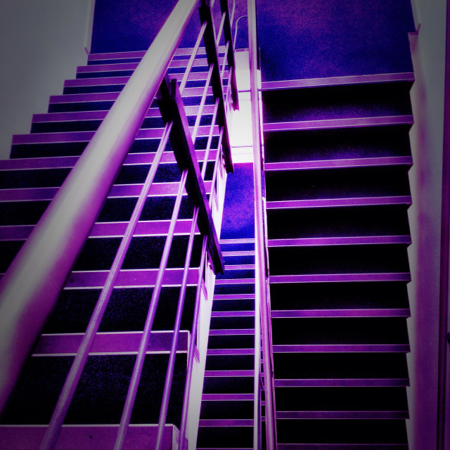 """""""Stairwell at the office."""" stock image"""