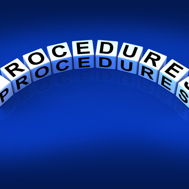 """Procedures Blocks Represent Strategic Process and Steps"" stock image"