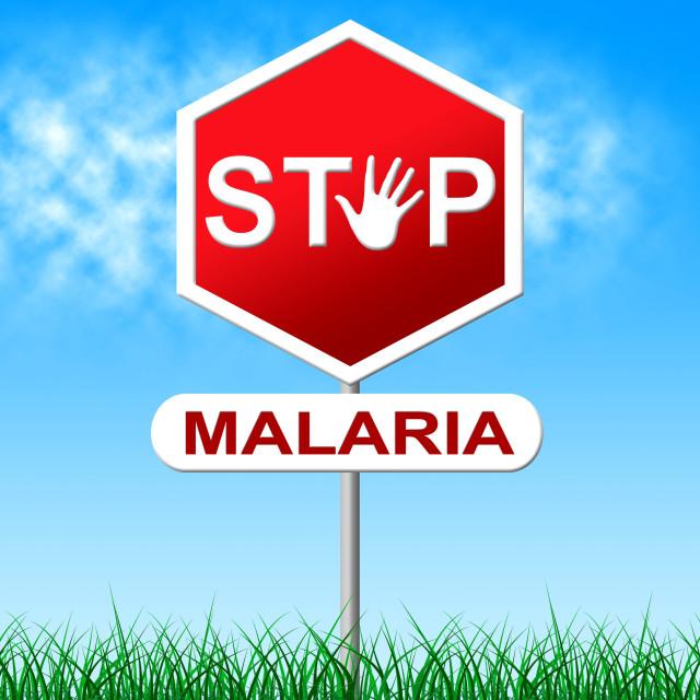 """Stop Malaria Represents Stopping Danger And Warning"" stock image"