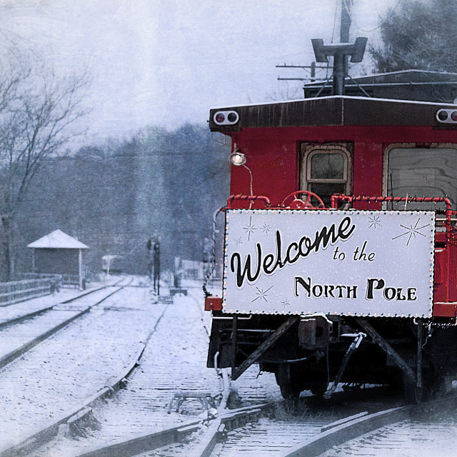 """""""North Pole Express"""" stock image"""