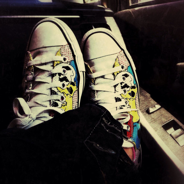 """""""Converse shoes with comic style design"""" stock image"""