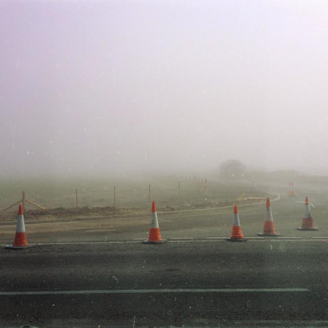 """Fog outside Crosby"" stock image"