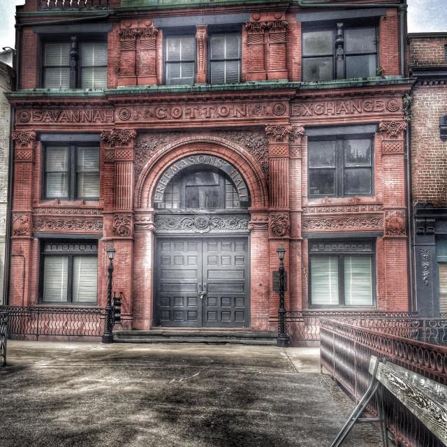 """Savannah Cotton Exchange 1800s"" stock image"