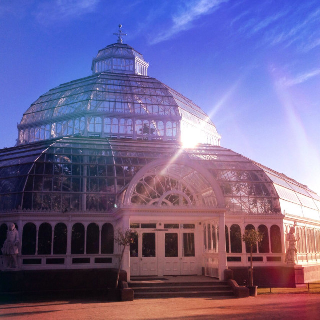 """Sefton Park Palm House, Liverpool, in summer"" stock image"