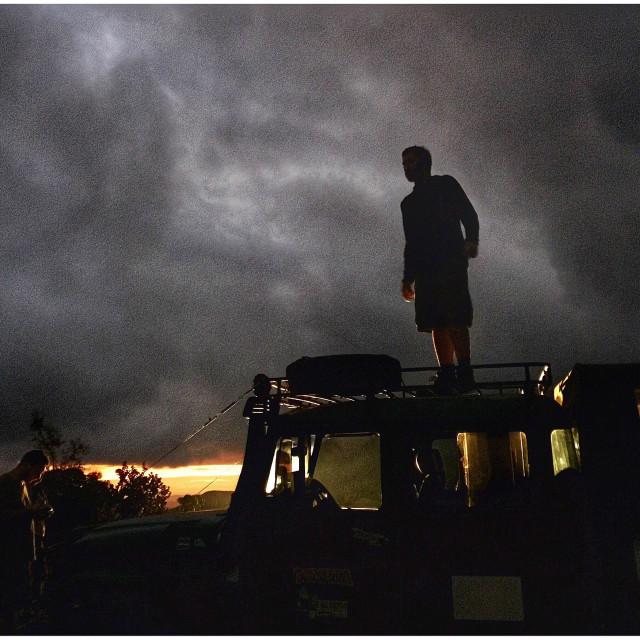 """A men in truck in Chapada Diamantina National Park, Bahia, Brazil."" stock image"