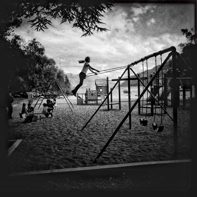 """""""Queenstown NZ. playground"""" stock image"""