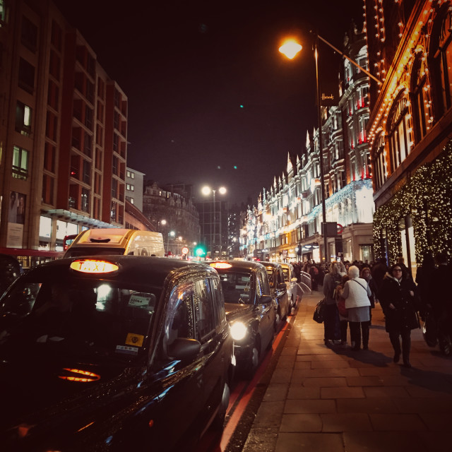 """Knightsbridge at Christmas"" stock image"
