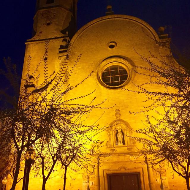 """Church in Calella"" stock image"