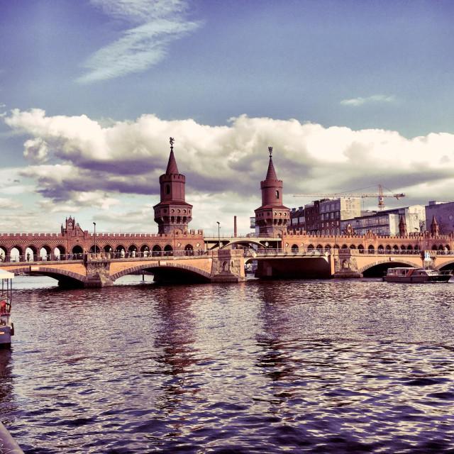 """Oberbaumbrücke in Berlin"" stock image"