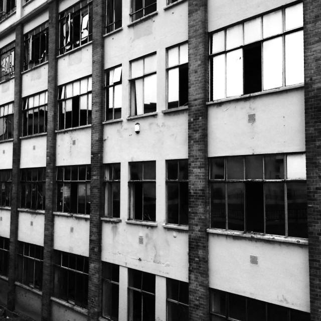 """London. An abandoned house."" stock image"