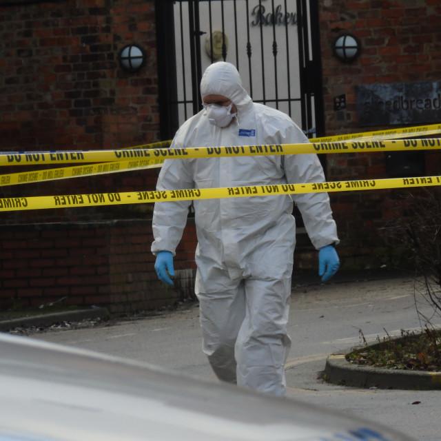 """Altrincham Crime Scene"" stock image"