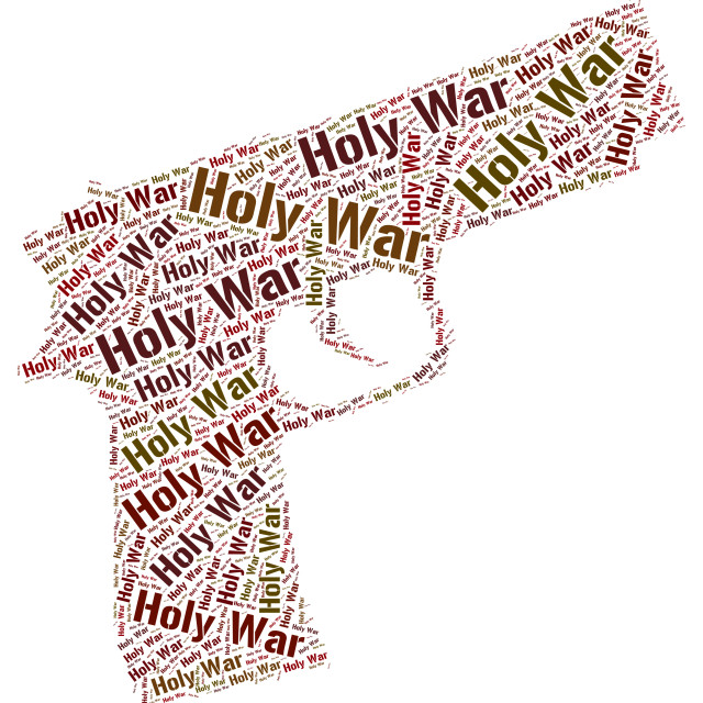 """Holy War Represents Military Action And Battle"" stock image"