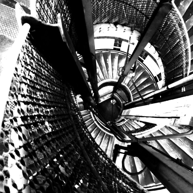 """""""London. A staircase in the underground"""" stock image"""