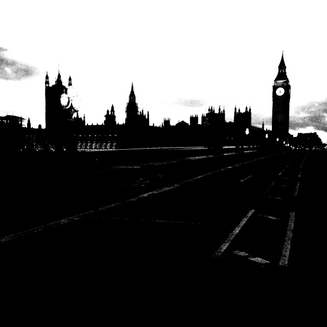 """""""London. A view from the bridge"""" stock image"""