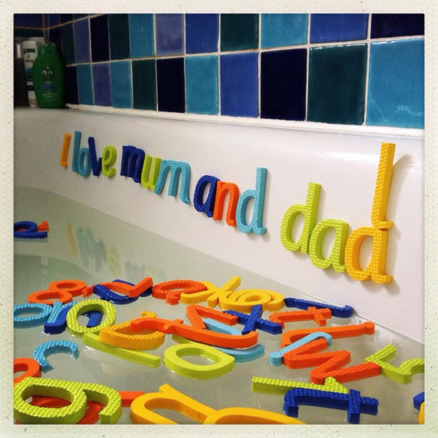 """Bath time letters"" stock image"