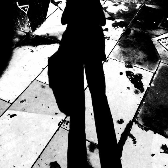 """London. The shadow man"" stock image"