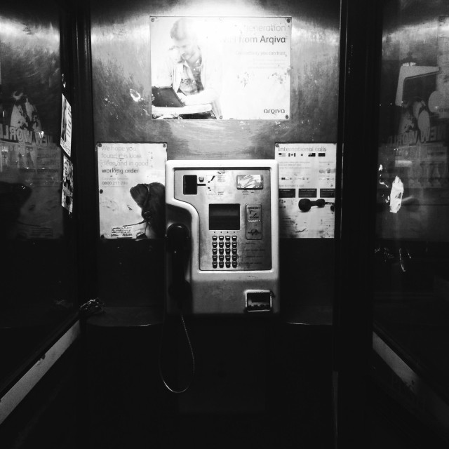 """London. The telephone"" stock image"