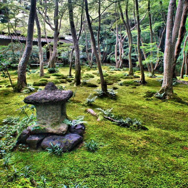 """Moss Garden temple"" stock image"