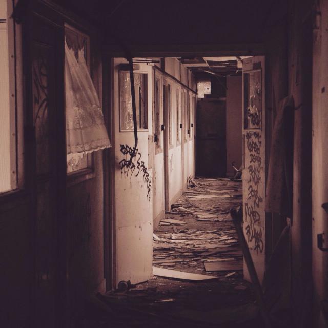 """Derelict nursing home"" stock image"