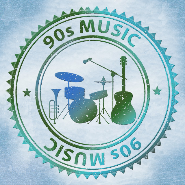 """""""Nineties Music Shows Soundtrack Acoustic And Sound"""" stock image"""