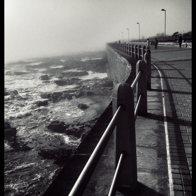 """""""People walking along the Seapoint promenade , Cape Town, South Africa."""" stock image"""