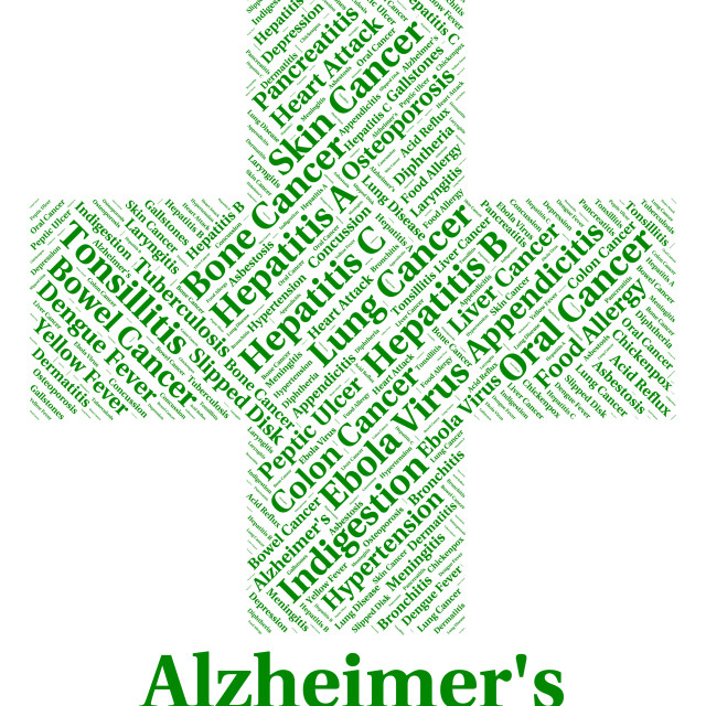 """""""Alzheimer's Disease Means Ill Health And Afflictions"""" stock image"""