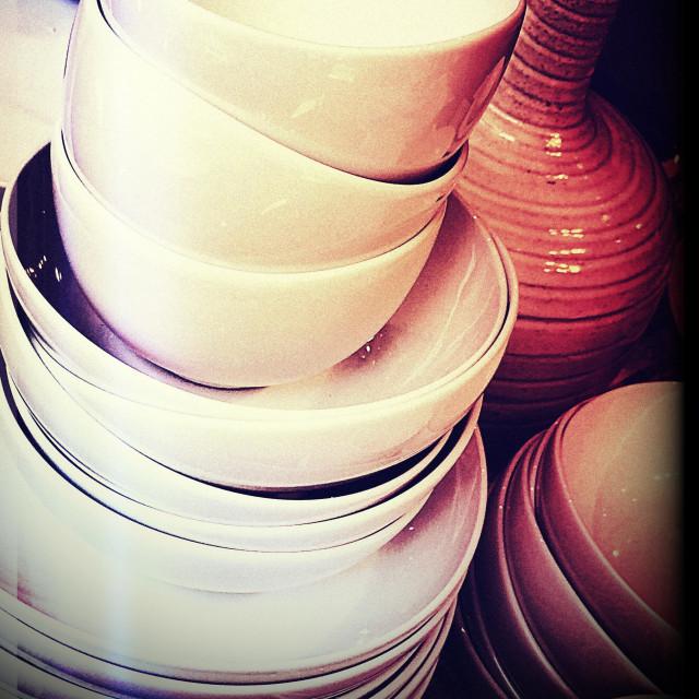 """Dinnerware"" stock image"