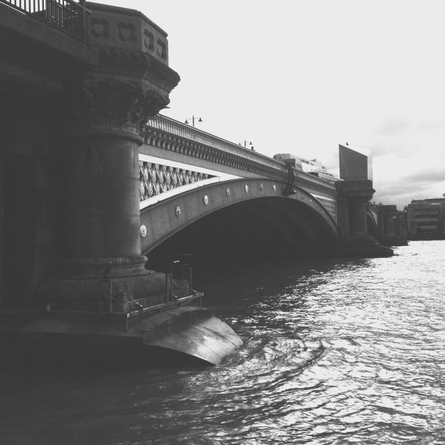 """London. The Blackfriars bridge"" stock image"