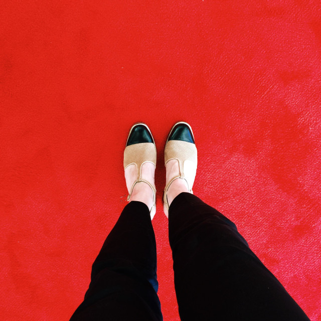 """""""On the red carpet"""" stock image"""