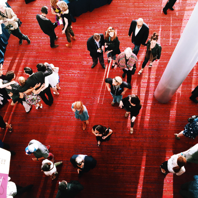 """""""people on the red carpet in the theater"""" stock image"""