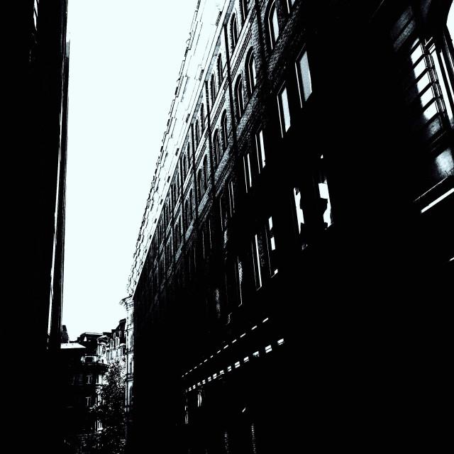 """London. The black wall"" stock image"
