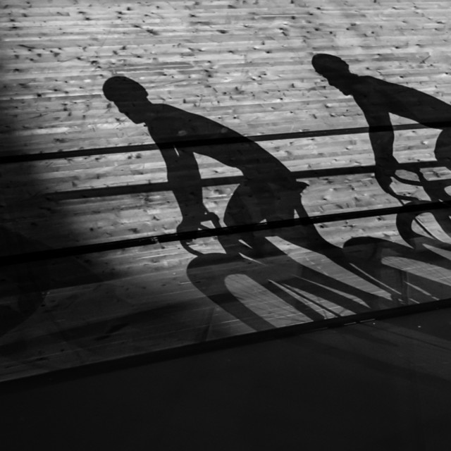 """Riders Shadows"" stock image"